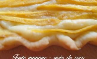 Tarte mangue noix de coco
