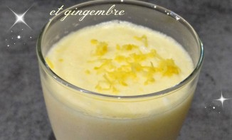 Mousses légères au citron et gingembre