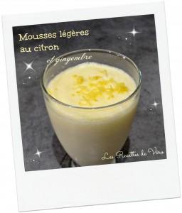 Mousse légère au citron et gingembre