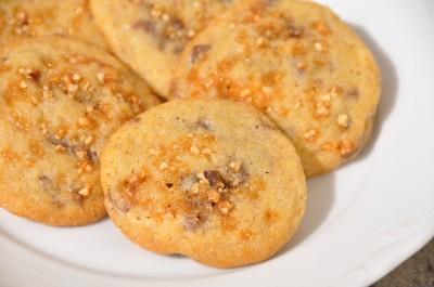 Cookies aux chunks chocolat et nougatine