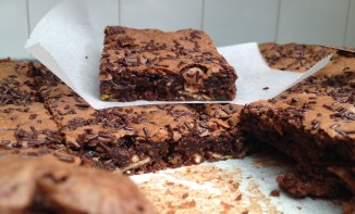 Brownie pistaches amandes