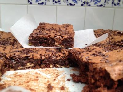 Brownie pistaches amandes