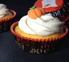 Cupcakes au potiron, glaçage fluff