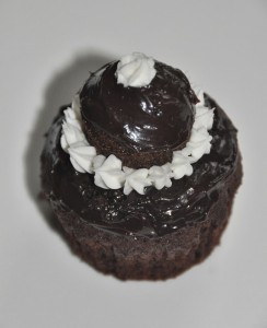 Cupcakes au chocolat noir piment