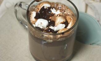 Chocolat chaud et marshmallow