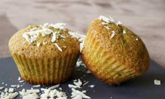Muffins Thé Matcha et Chocolat Blanc