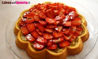 Biscuit rhubarbe fraises