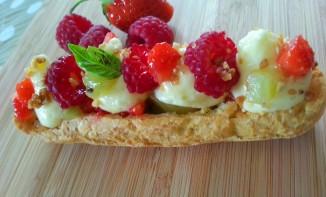 Eclairs aux Fruits et Mousse Citron Vert sans Lactose