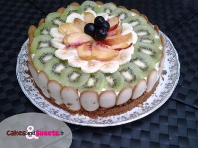 Cheesecake sans cuisson aux Fruits