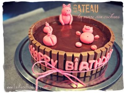 """Gâteau """"La mare aux cochons"""""""