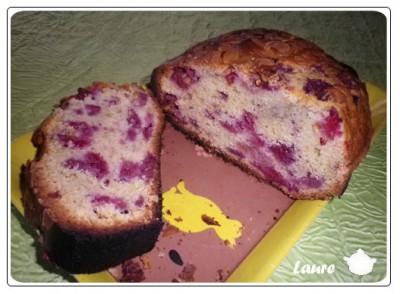 Cake amandes et framboise