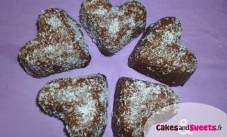 Coeurs chocolat noix de coco