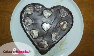 Gâteau coeur chocolat