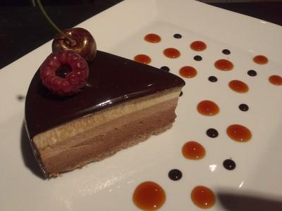 recette de l'Entremets aux trois chocolats