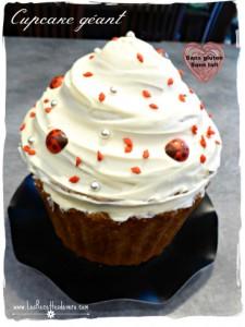 Cupcake Géant sans gluten sans lait