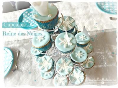 Cupcakes Reine des Neiges - Sans gluten sans lait