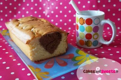 Cake caché forme coeur