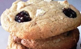 Cookies chocolat blanc,noix de coco, cranberries