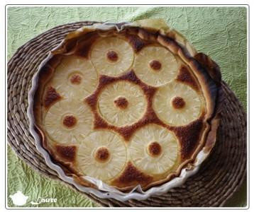 Tarte ananas noix de coco