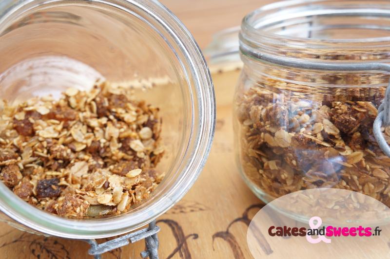 Granola maison chocolat noix de coco