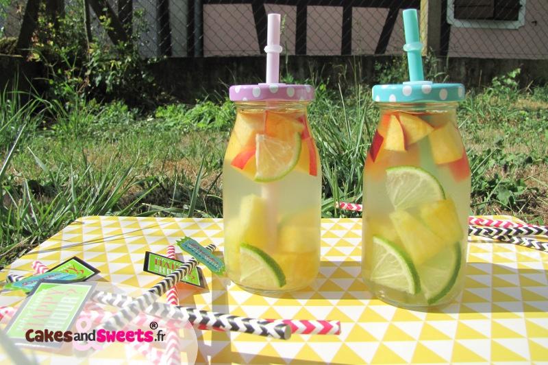 Detox Water Eau de Coco Fruits