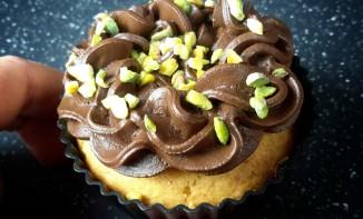 Cupcakes pistache, chocolat noir et tofu soyeux