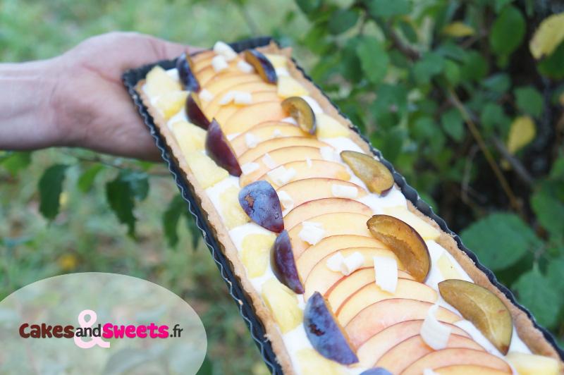 Tarte aux fruits mousse chocolat blanc