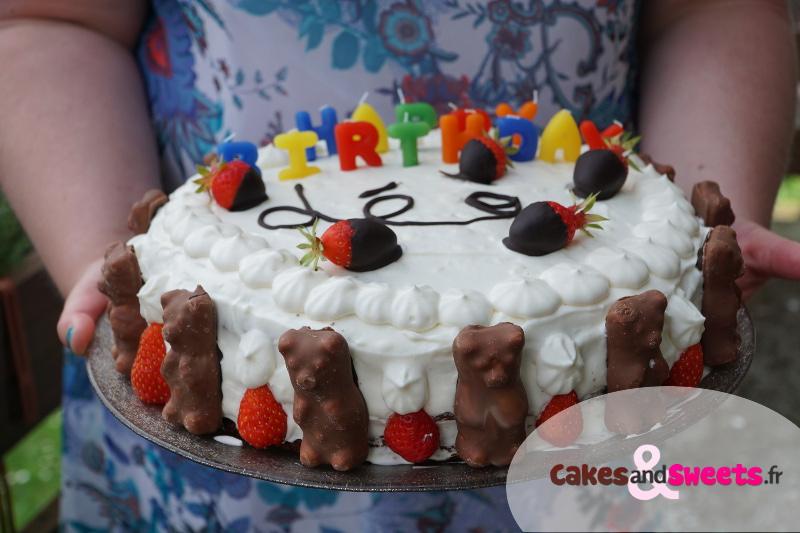 Layer Cake Chocolat et Fraises