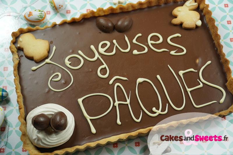 Tarte Chocolat Noisettes de Pâques