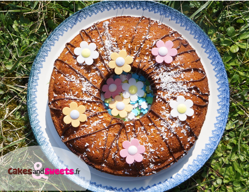 Gâteau Marbré Cacao Noix de Coco